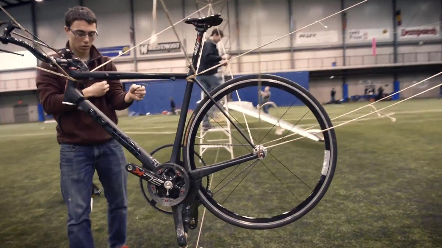 The bicycle at the heart of the Atlas (Video still: AeroVelo)