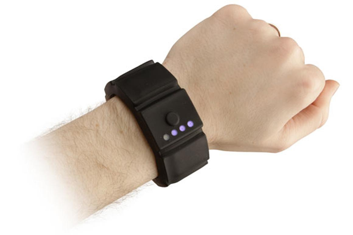 The Universal Gadget Wrist Charger provides extra power on the go