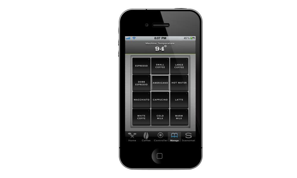 Top Brewer users can stipulate the type and parameters of the drink they would like, via an iPhone app