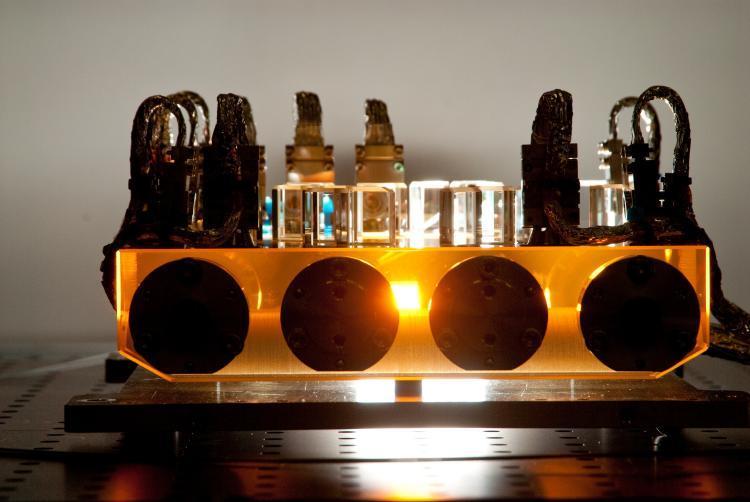 LTP's flight optical bench (Image: Albert Einstein Institute)