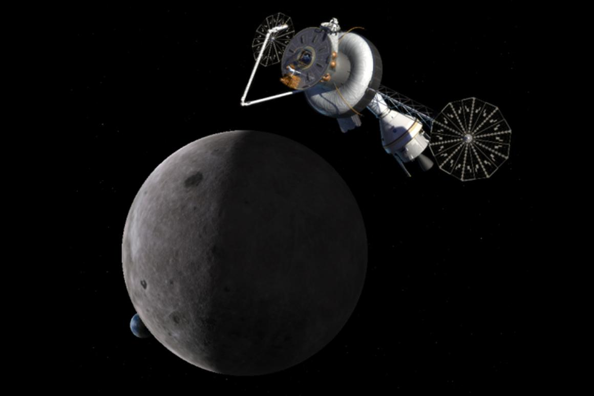 Astronauts manning a proposed deep space station on the far side of the Moon would need enhanced radiation protection (Image: NASA)
