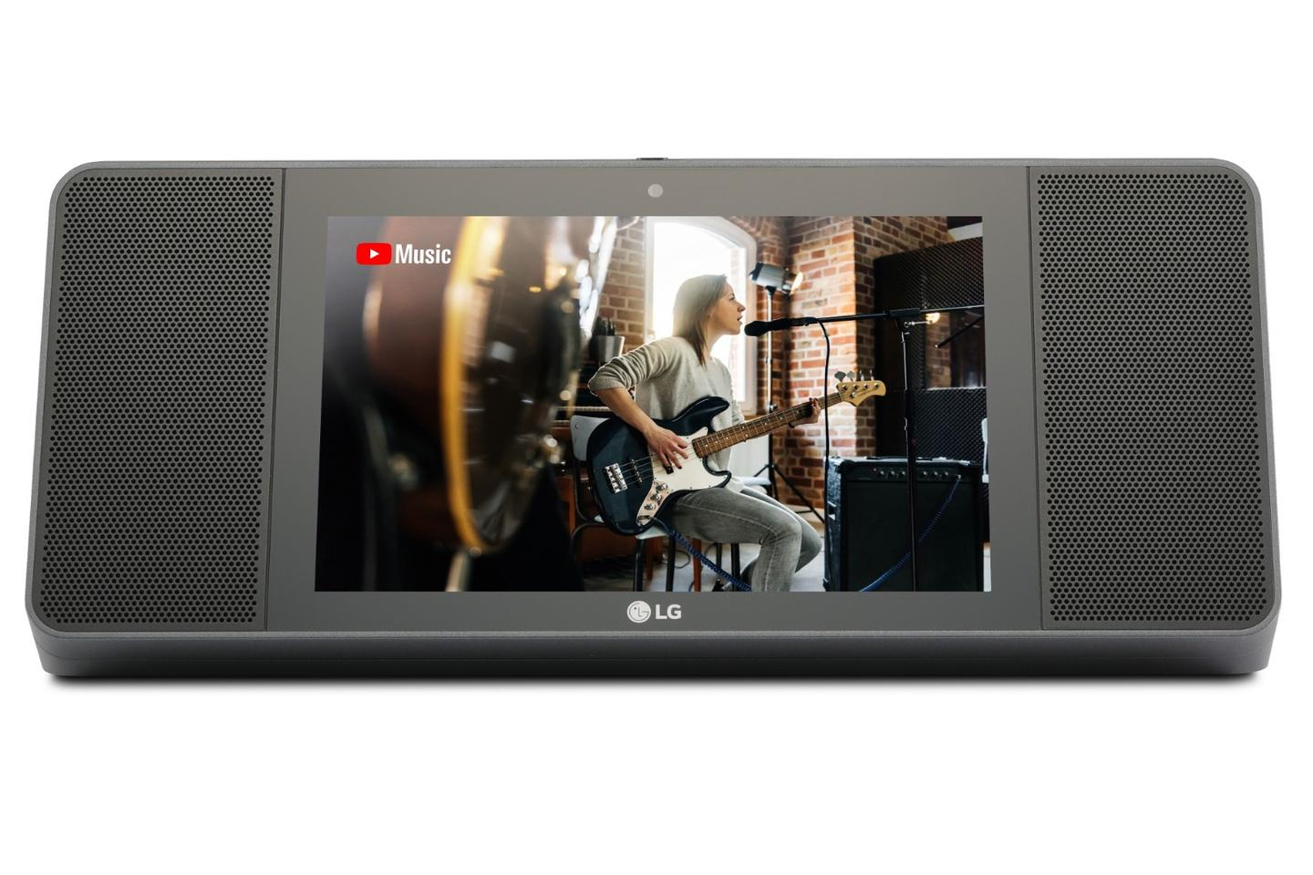 TheXBoom AI ThinQ model WK9 rocks 20 W stereo speakers, an 8-inch touch display and a 5 MP front-facing webcam