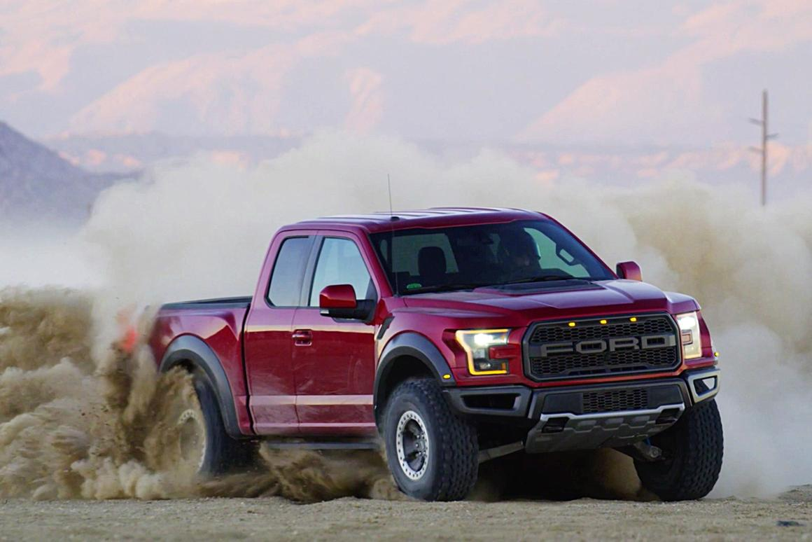 The 2017 Ford F-150 Raptor, doing what it does best