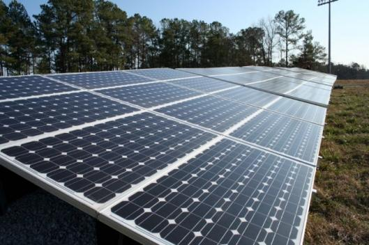 The 435 panel, 75.6 kW solar array sits on land owned by N.C. State University