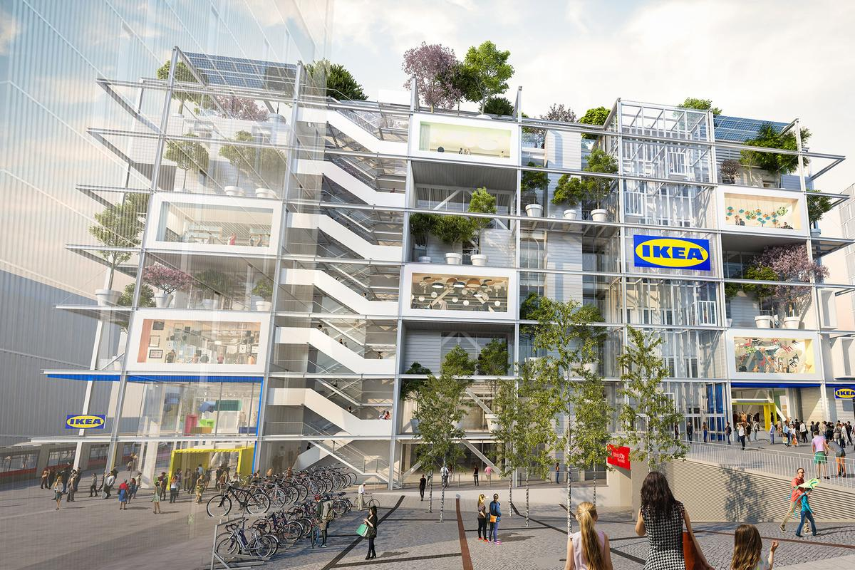 Ikea Vienna Westbahnhof will integrate approximately 160 trees