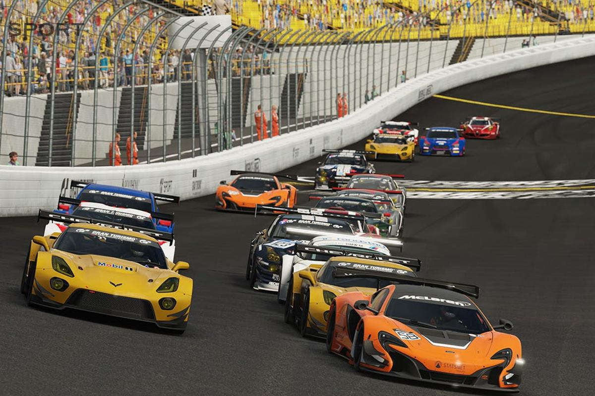 A grid of cars takes on Gran Turismo Sport