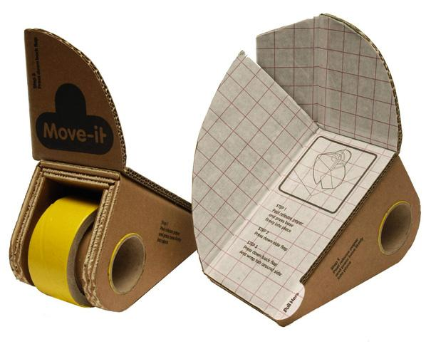 Move-it is a clever prototype kit made of recyclable cardboard and repulpable adhesive