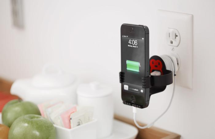 The MonkeyOh is designed to get rid of cord clutter