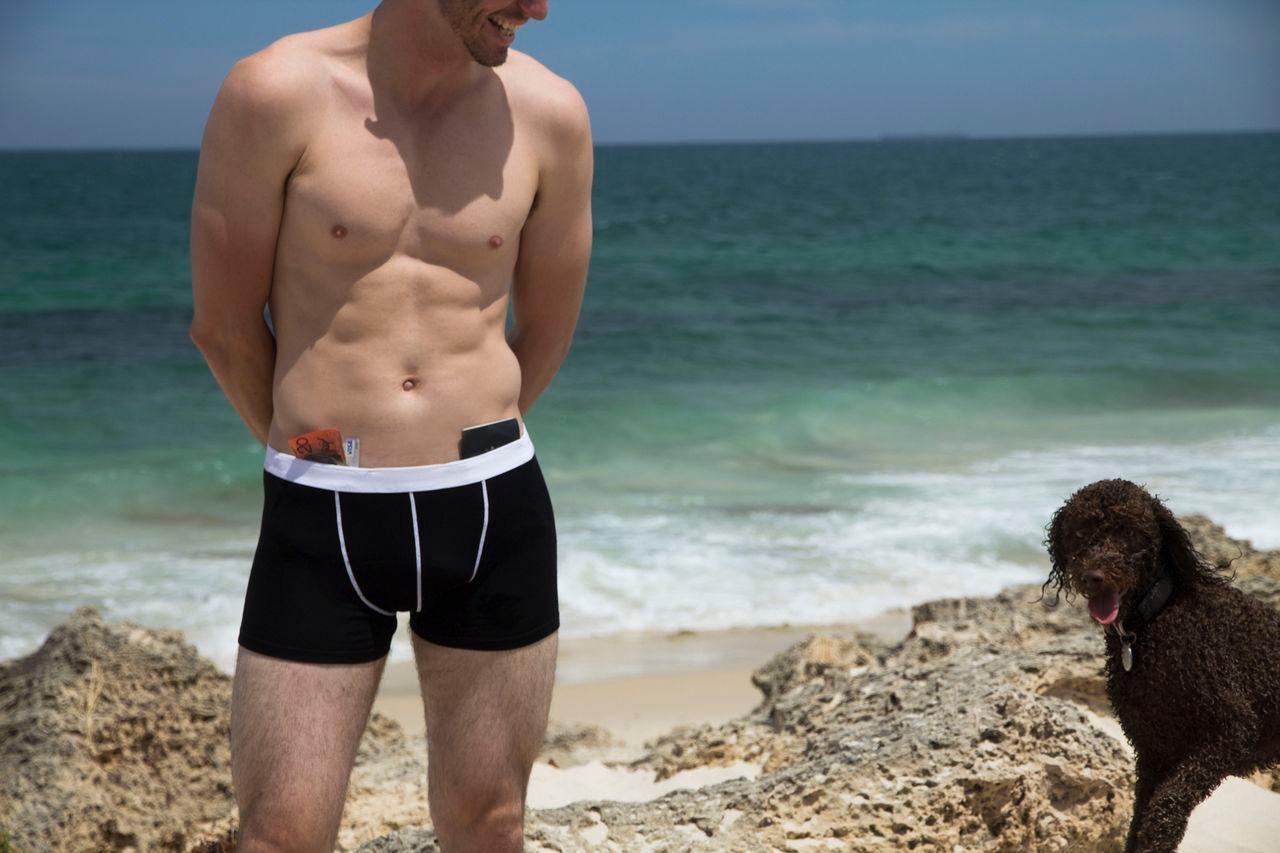 Adventure Underwear features two pockets, one of which is waterproof to depths of 200 meters