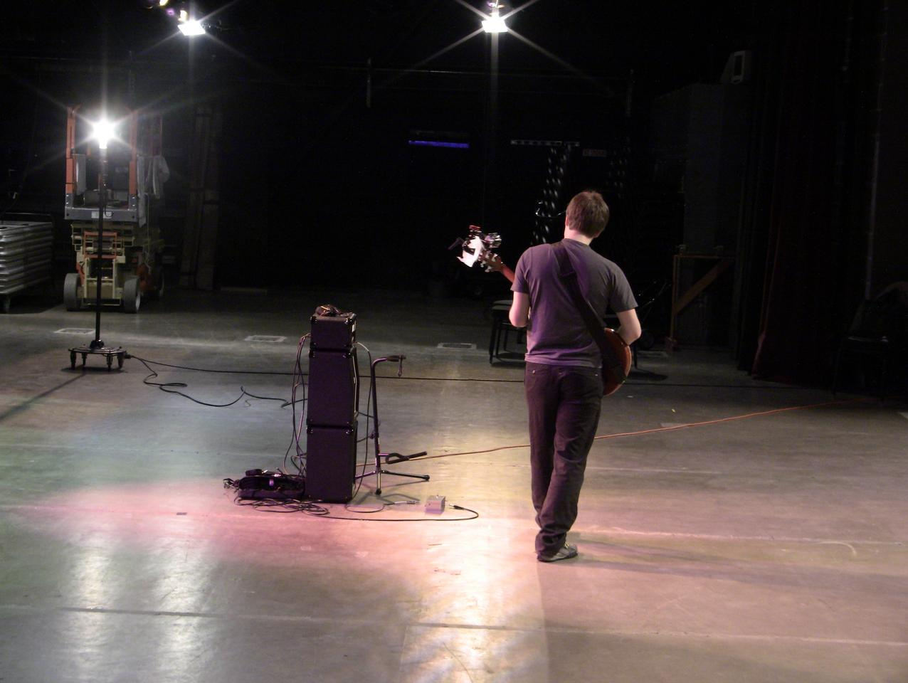 The Ghost Pedal gives a guitarist the freedom to roam the stage area and wirelessly control a virtual wah distortion effect whenever and wherever the mood grabs