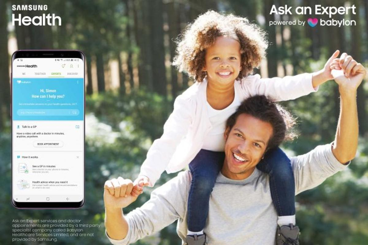 The Ask an Expert, powered by Babylon service is available in the UK from today via the Samsung Health app