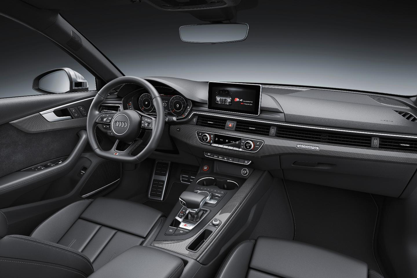 The S4's interior is hardly any different from the standard A4's
