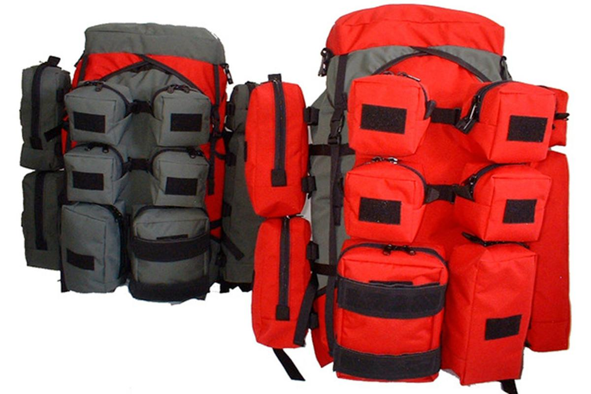 The main RukSak backpack with 10 additional pouches
