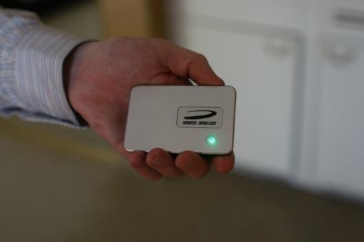 Notatel's innovative new MiFi device.