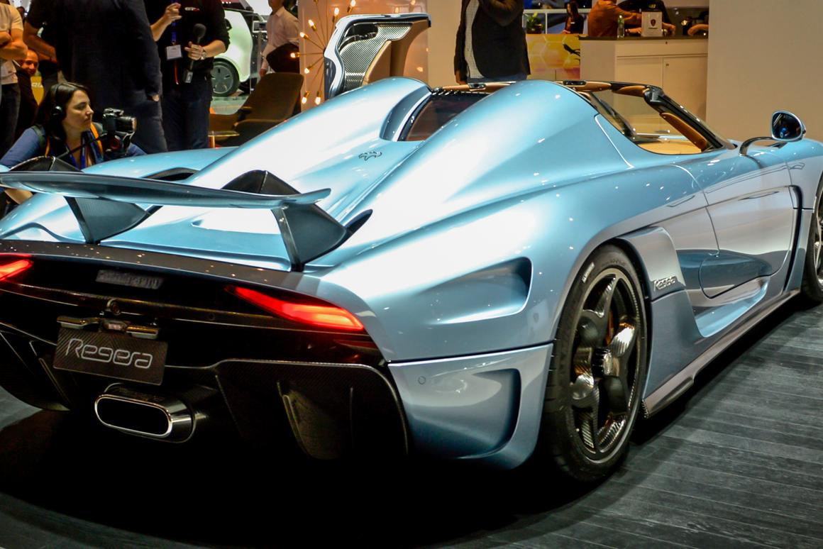 The all-new Koenigsegg Regera debuts at the Geneva Motor Show (Photo: C.C. Weiss/Gizmag.com)