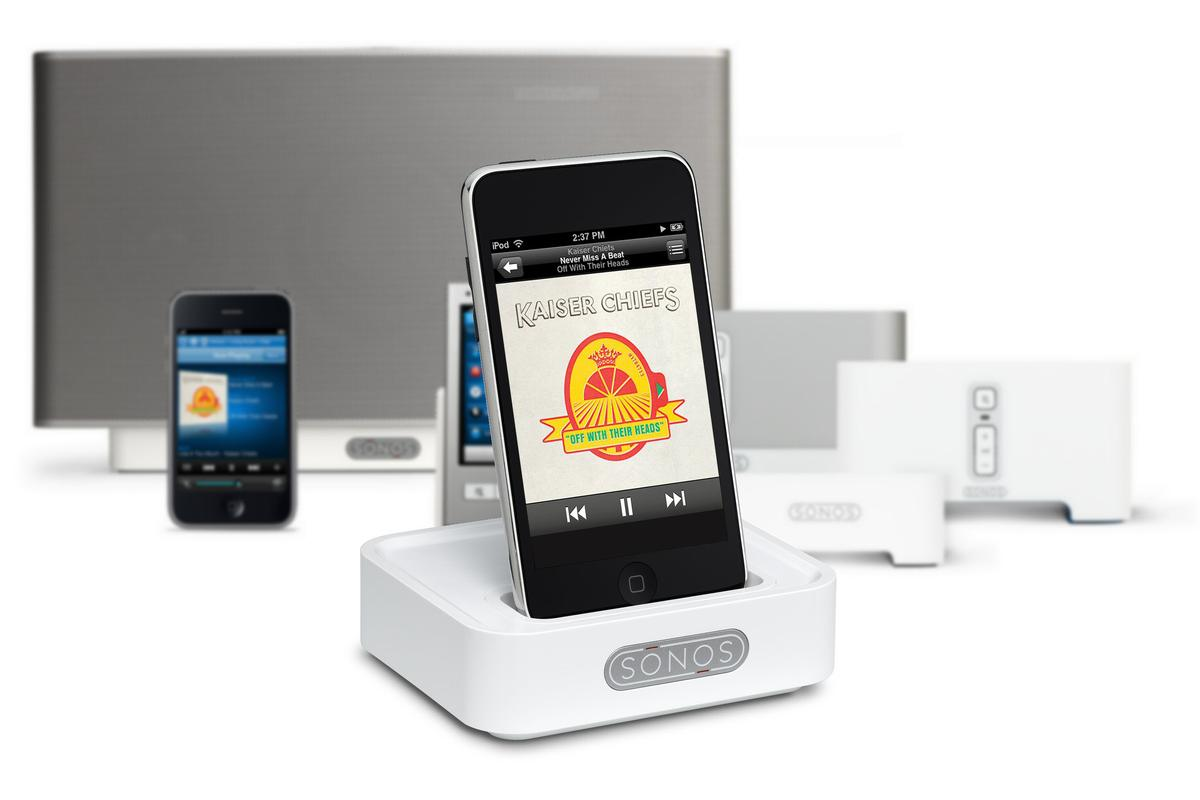 A wireless dock has been produced by Sonos to allow iPod and iPhone users a means of streaming music to the company's multi-room music system