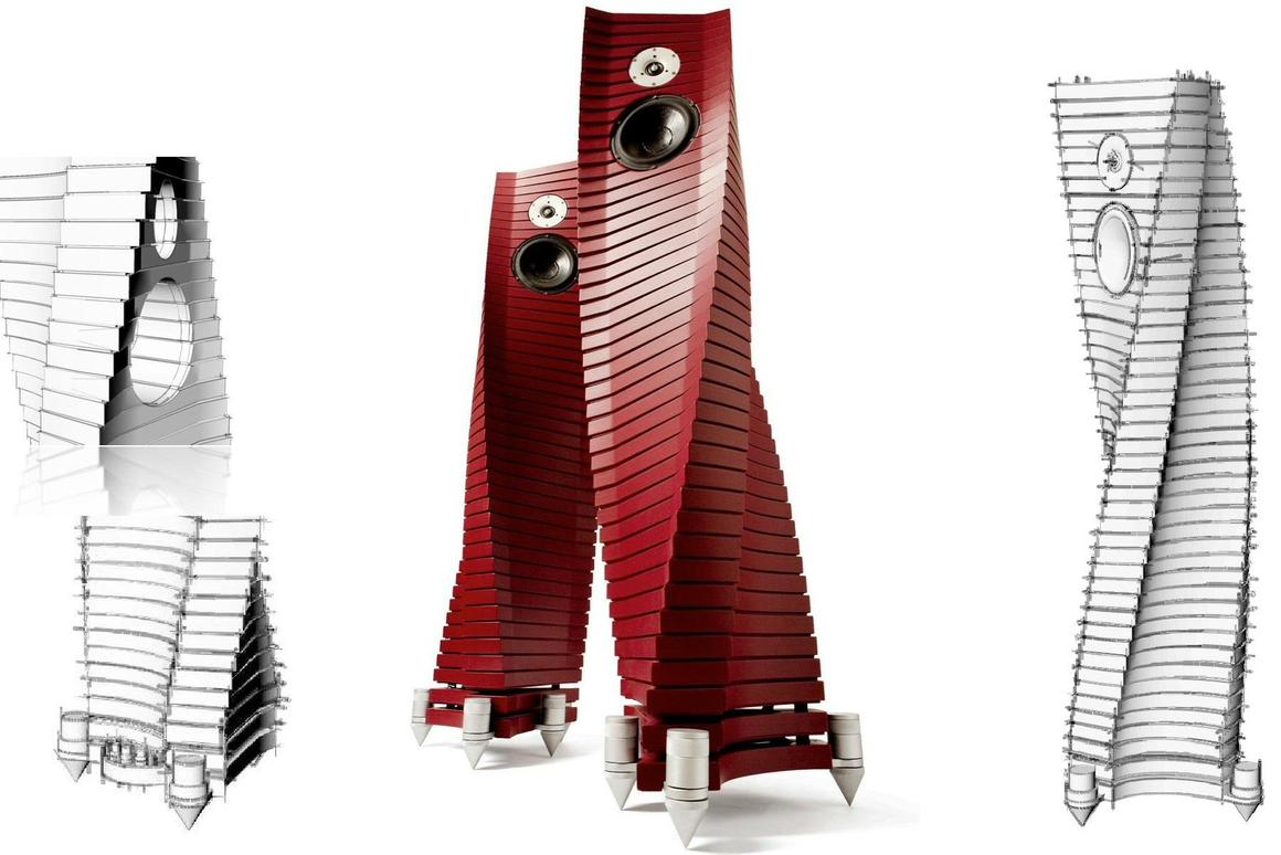 The Teti Extreme Louspeakers from Book of Music merge eye-catching design with high-end audio driver technology