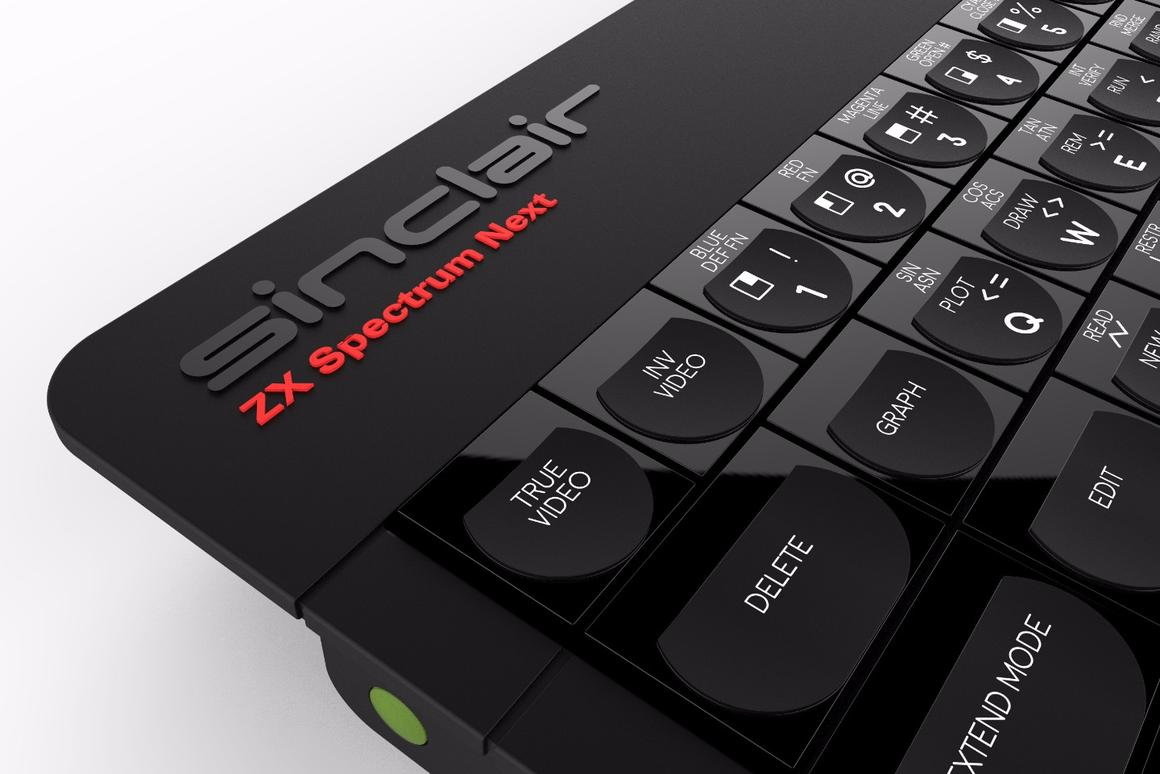 Thanks to a charitable donation promised by SpecNext, the ZXSpectrum Next sports the name Sinclair up top