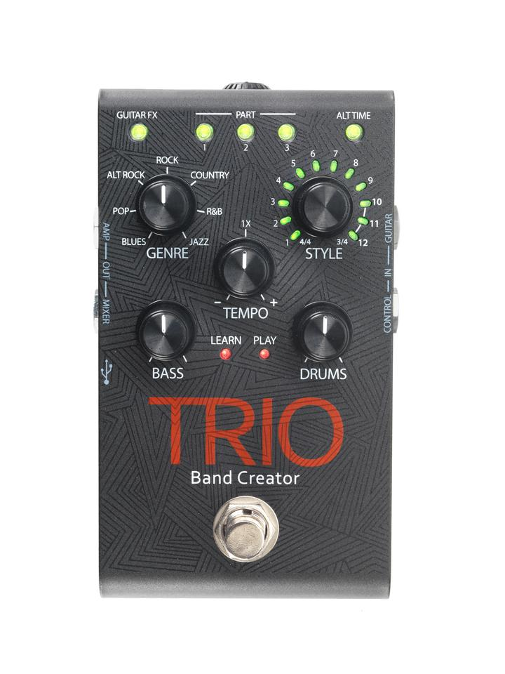 The Trio first learns song chords and overall rhythm and can then provide drum and bass accompaniment for bedroom practice or a solo jam