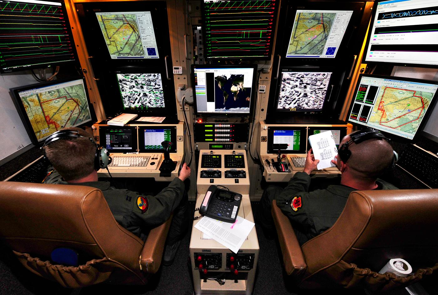 Ground Control Station of the Predator B UAV (Photo: GA-ASI)