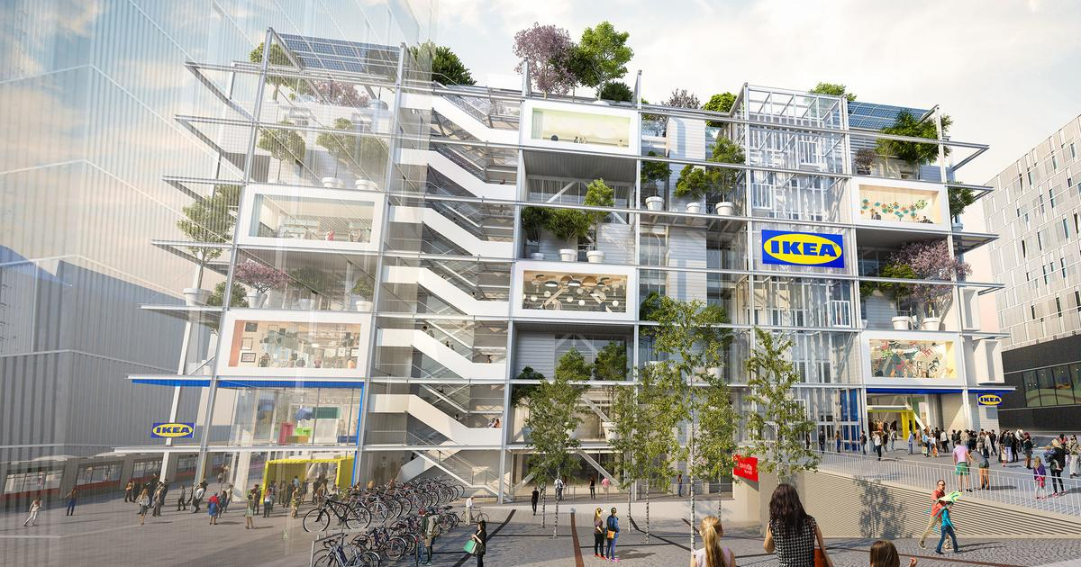 Ikea plans car-free greenery-covered store