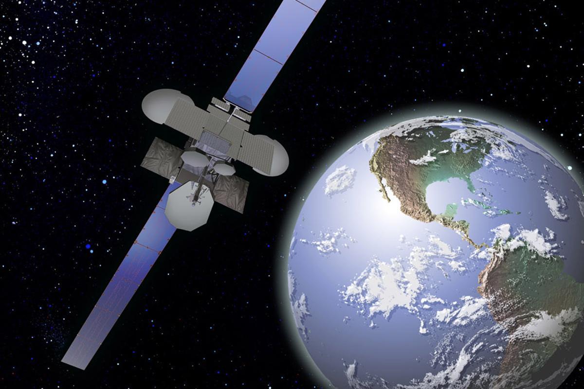 Artist's concept of Spaceway-1