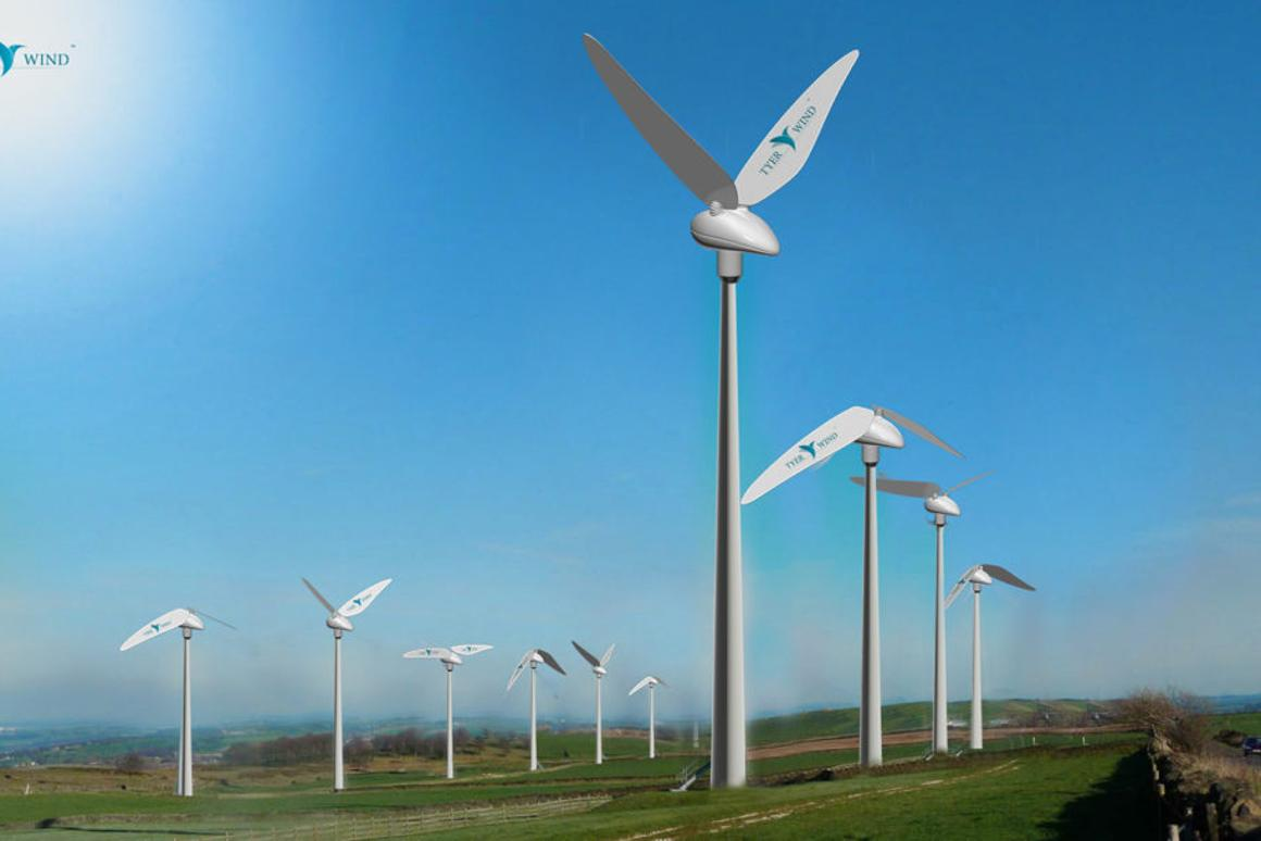 Tyer Wind turbine mimics the figure 8 flapping motion of hummingbirds