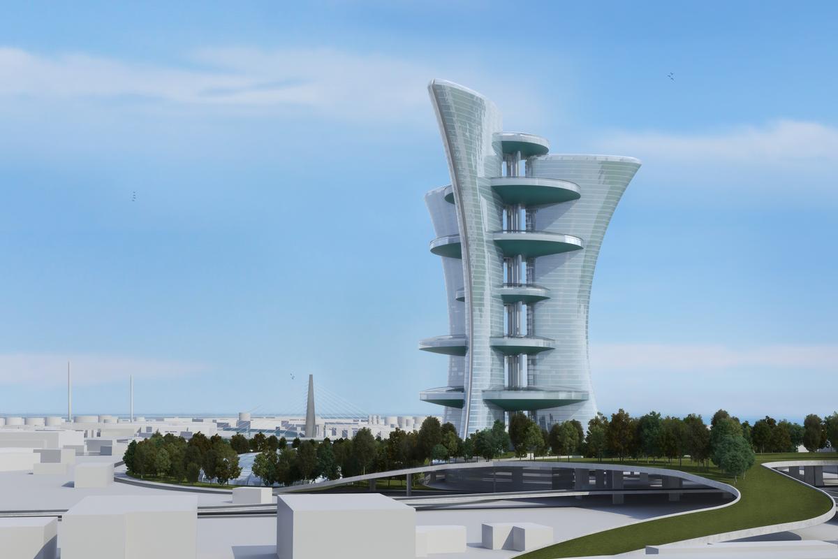 Pierre Cardin's proposed high-rise complex (Image: Palais Lumiere)