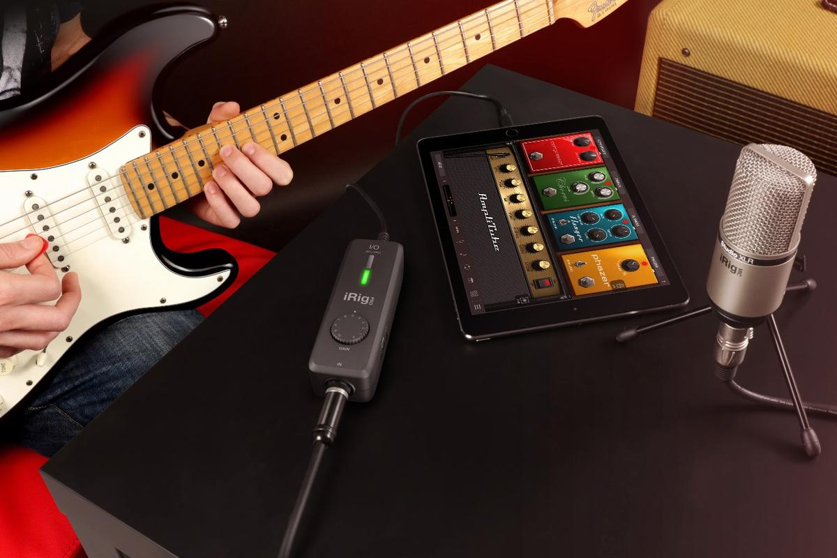 The iRig Pro I/O from IK Multimedia comes bundled with full versions of music creation software, including AmpliTube and SampleTank