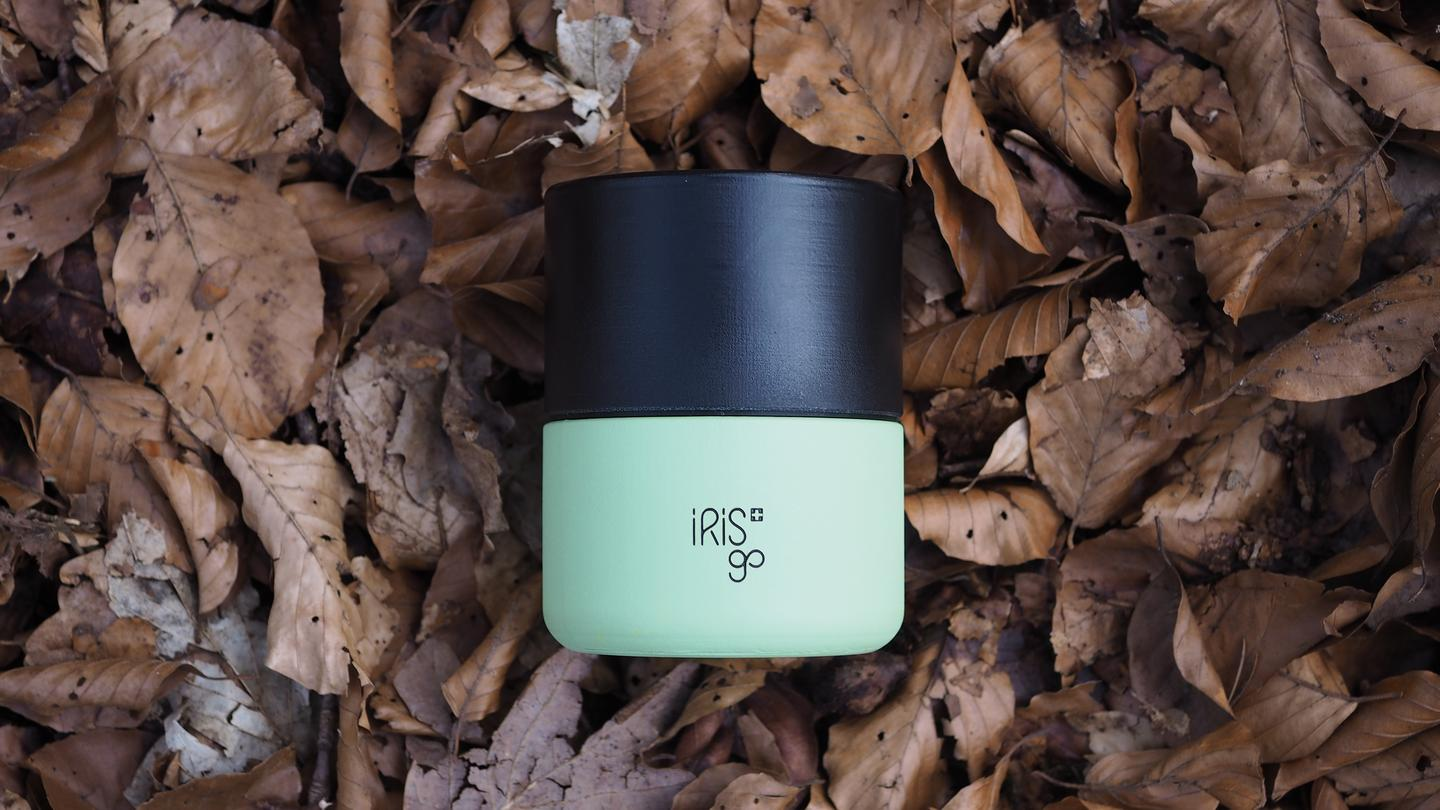 The IRISgo is a reusable cup that prioritizes the pleasure of that cup of morning joe