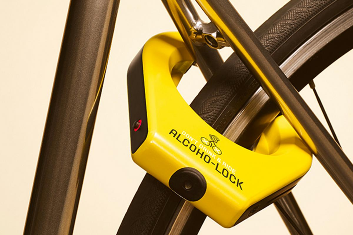 The Alcoho-Lock is designed to prevent drunken cyclists hitting the road