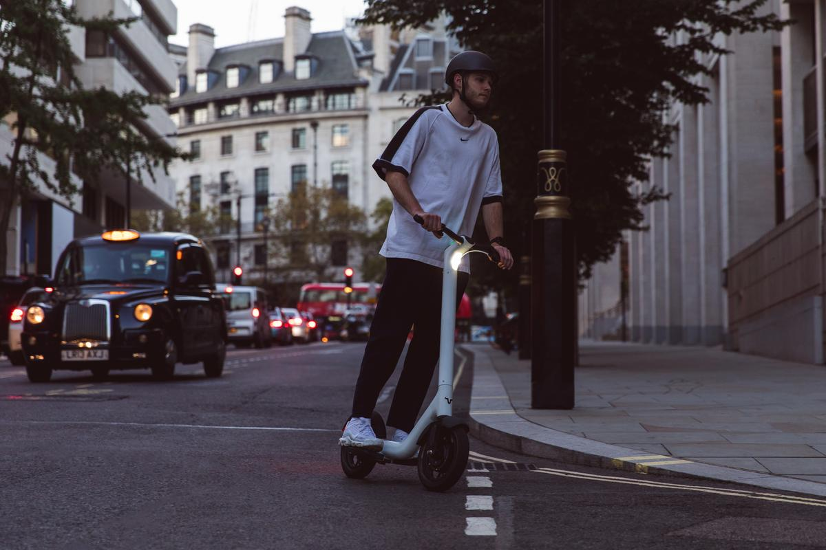 The road-ready Taur electric scooter has a per-charge range of up to 22 miles, and a top speed of 24 mph