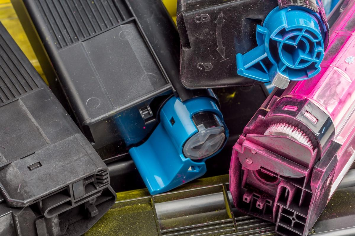 Residual toner from discarded printer cartridges could be recycled into iron