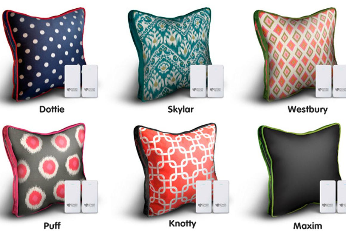 The Power Pillow comes in a range of different designs, though the battery packs within are all identical