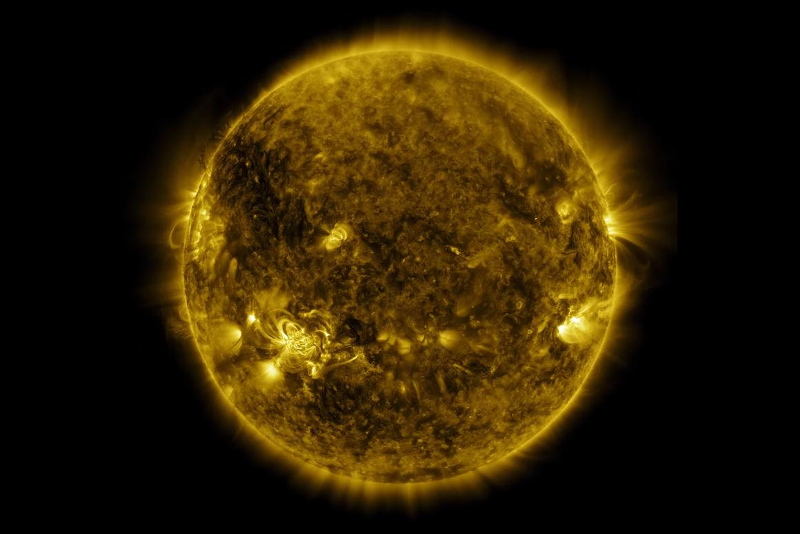The newly released video shows dark filaments suspended in the corona by twisted magnetic fields, occasionally erupting in titanic coronal mass ejections