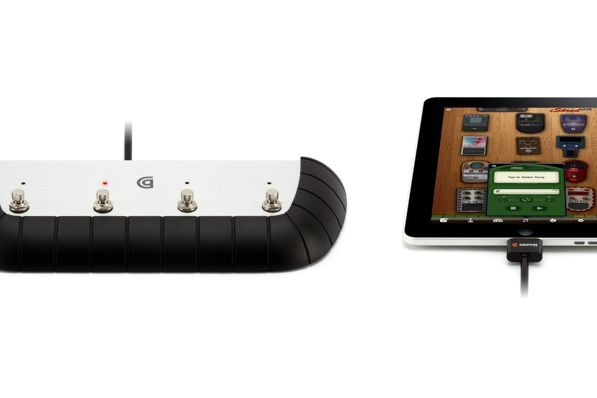 Griffin Technology has partnered with the creators of the iShred LIVE amp simulation and effects app for iOS devices to develop a multi-function foot controller for guitar effects