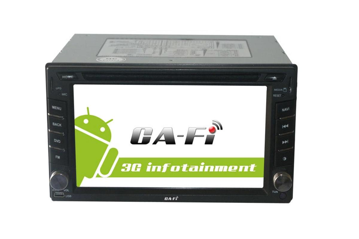 Innotrends has unveiled its Ca-Fi Android 2.3-based infotainment multimedia system powered by 1.2GHz Cortex A8 CPU