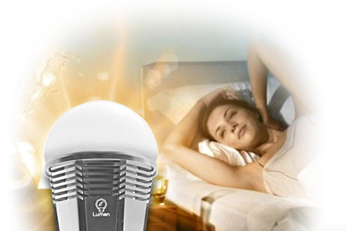 The Lumen Smart Bulb is a Blueetooth-enabled LED with intelligent functions such as Party, Sleep and Wake mode