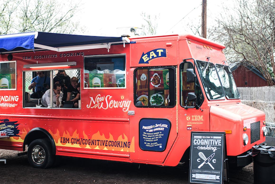 IBM has put Watson, its cognitive computing system, in control of the menu at a food truck for this week's SXSW festival
