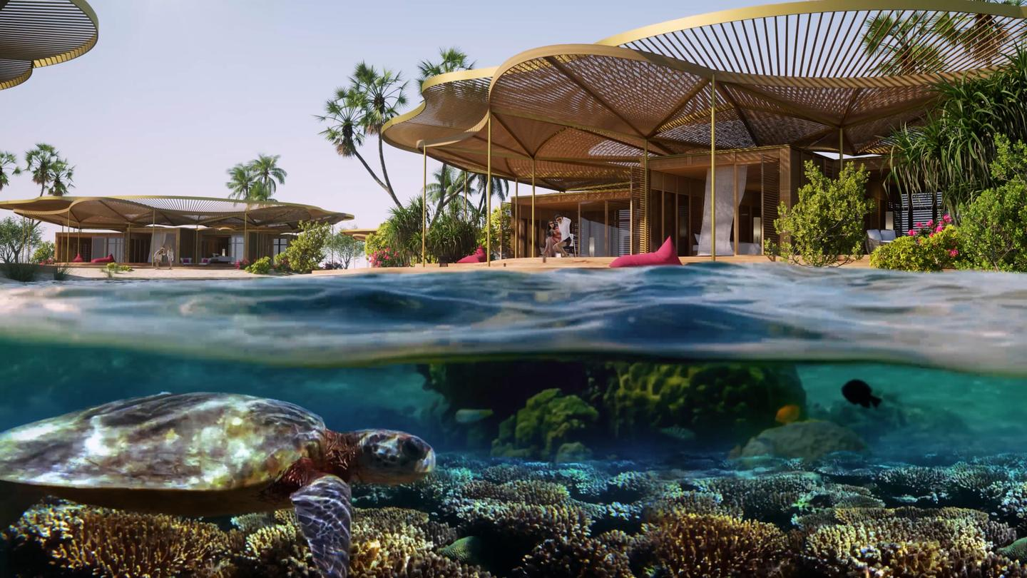 Coral Bloom will include a total of 11 hotels designed by Foster + Partners