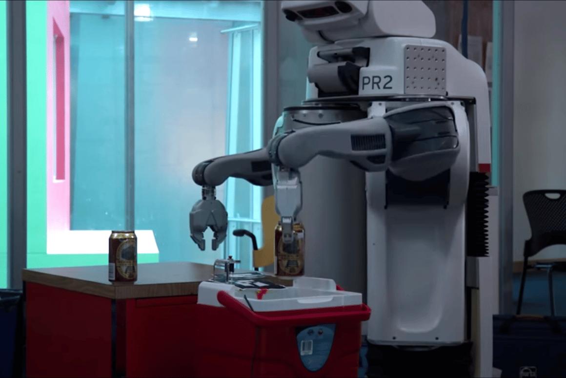 MIT's robotic bartending service in action
