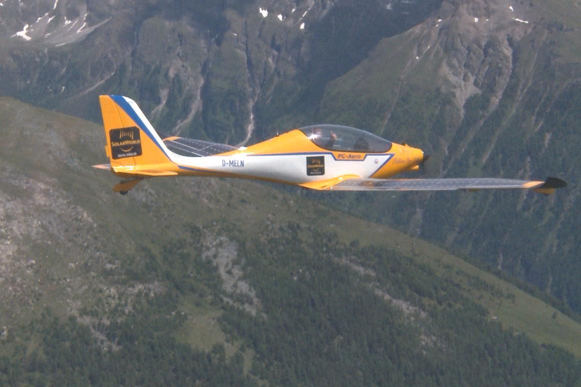 The Elektra One Solar on its way across the Alps