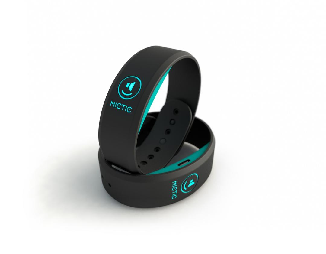 Looking like Fitbits, the Mictic wristbands translate motion into music