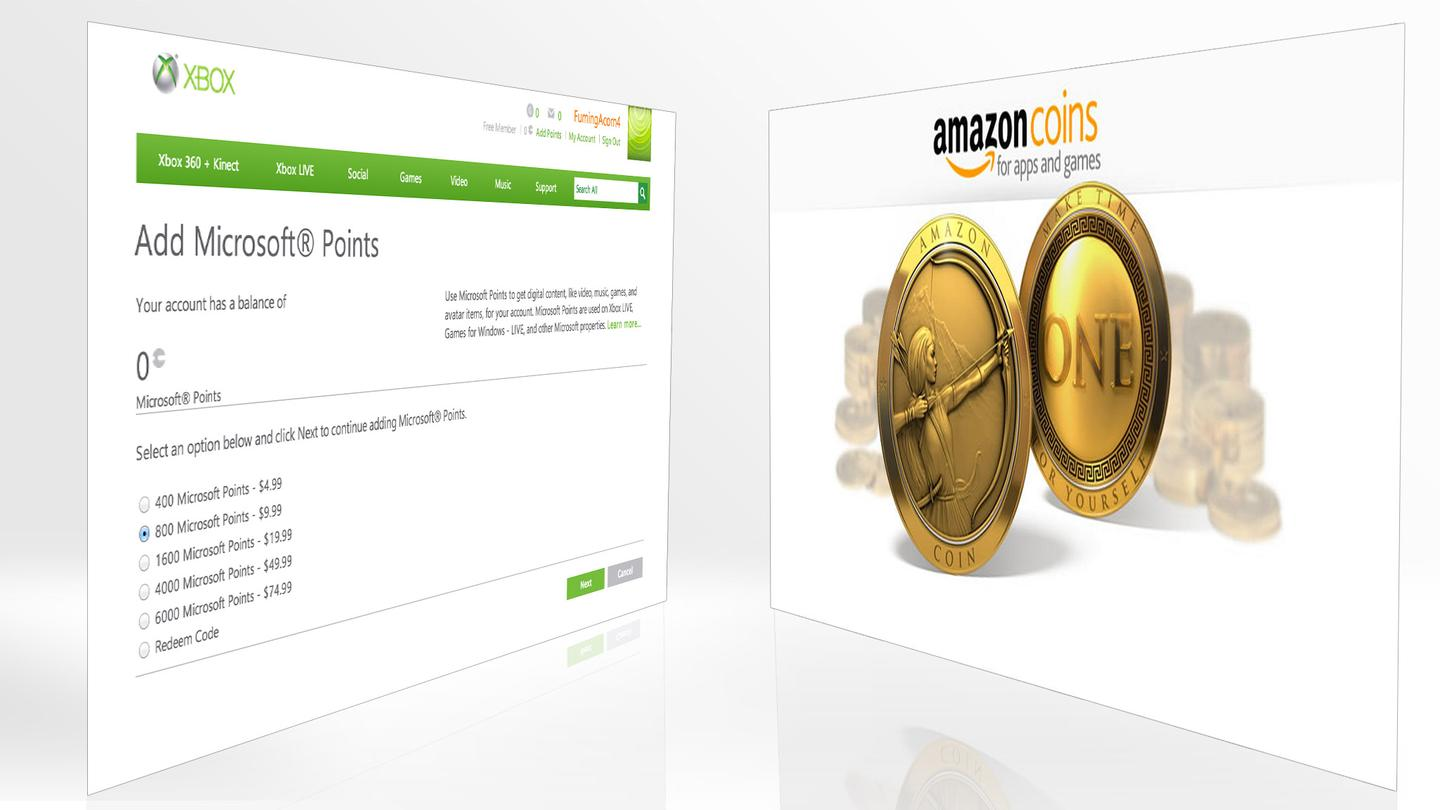 Just as Microsoft is reportedly phasing out Microsoft Points, Amazon is launching a similar virtual currency