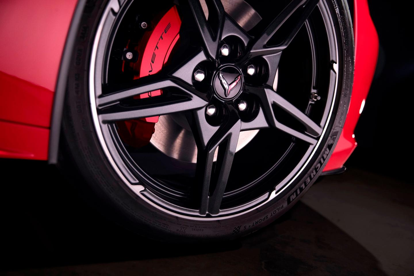 Corvette embossed brake calipers mark the Z51 package