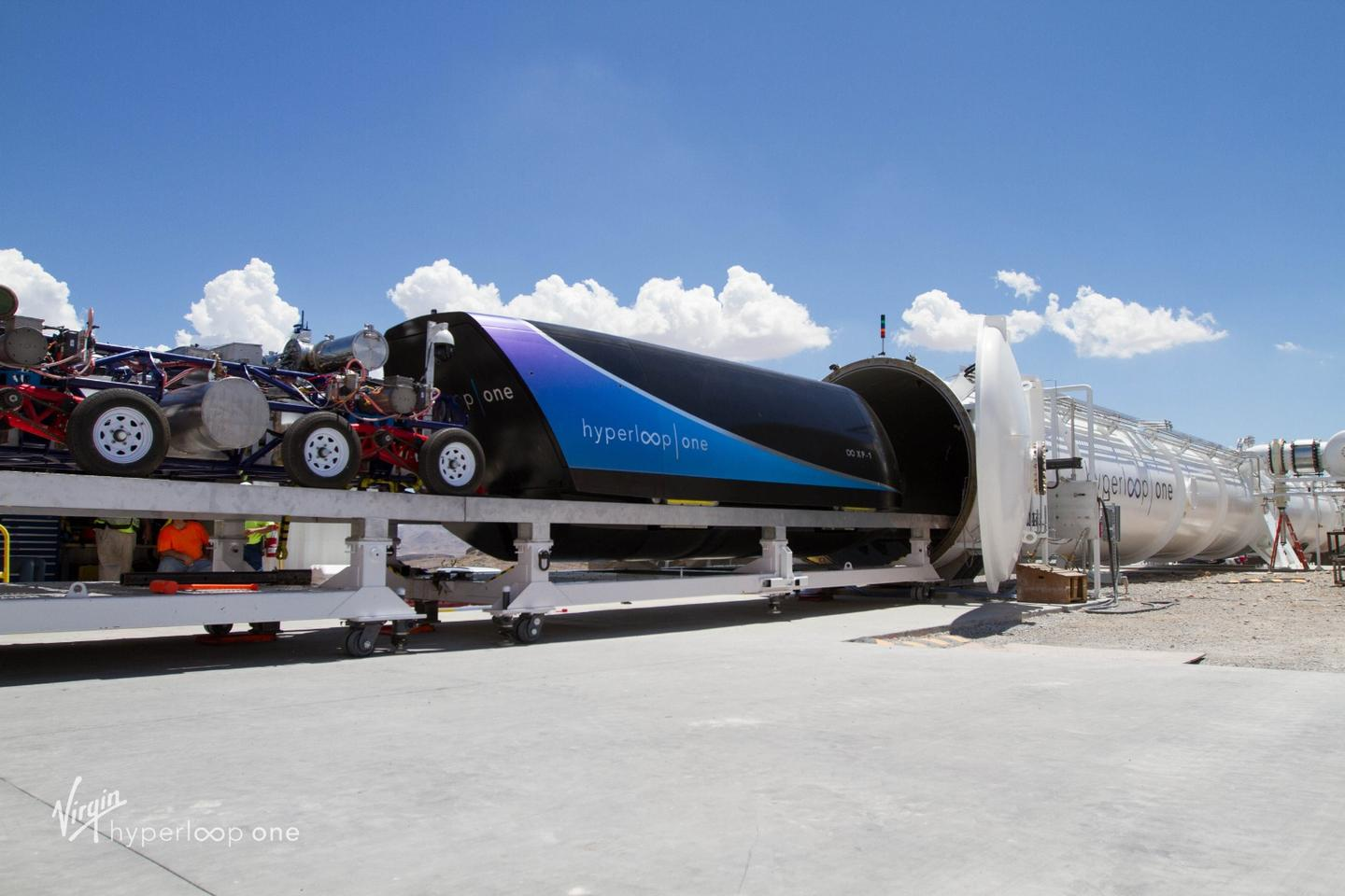 Virgin Hyperloop One hopes to one day establish high-speed transport networks involving levitating capsules and near-vacuum tubes