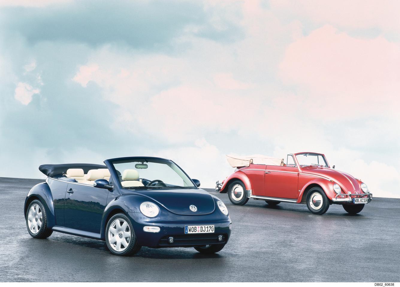 Новый Beetle Cabriolet и VW 1200 Beetle Cabriolet