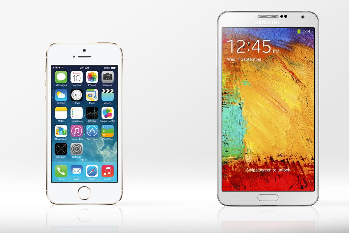 Gizmag compares the features and specs of the Apple iPhone 5s and Samsung Galaxy Note 3
