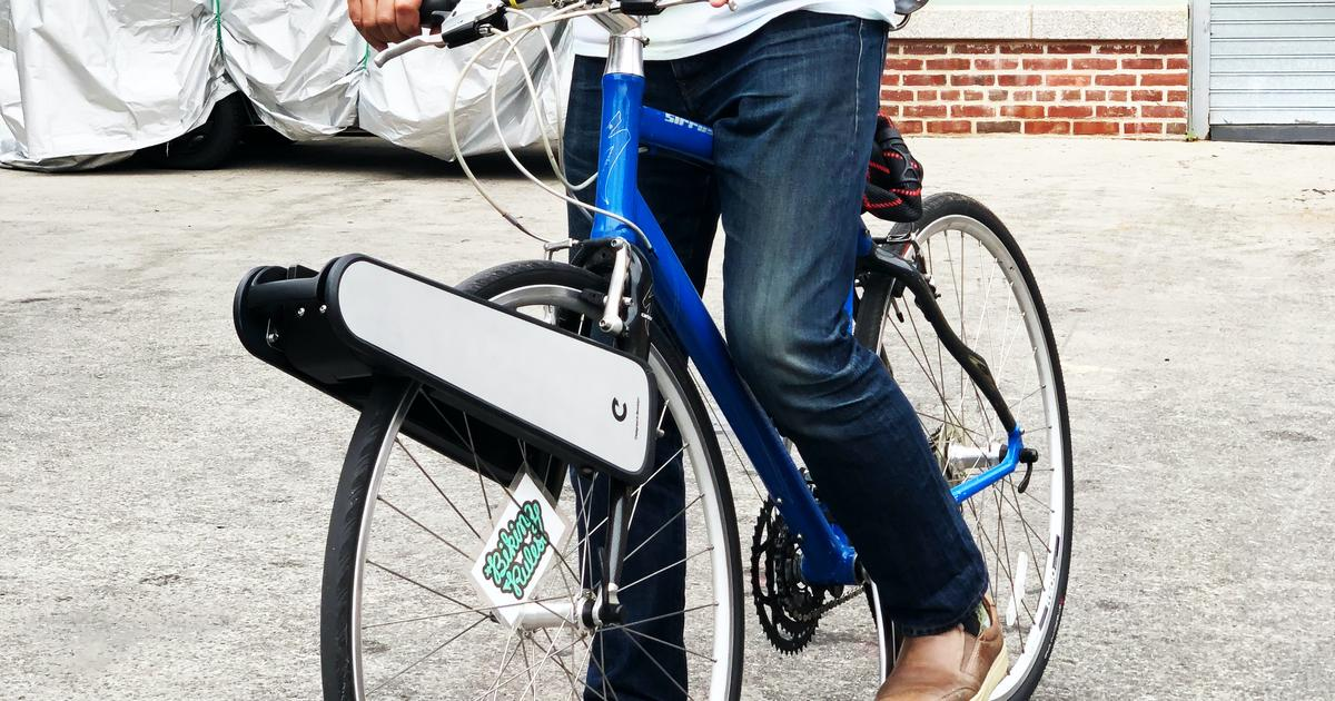 Clip ebike conversion kit powers up the front wheel