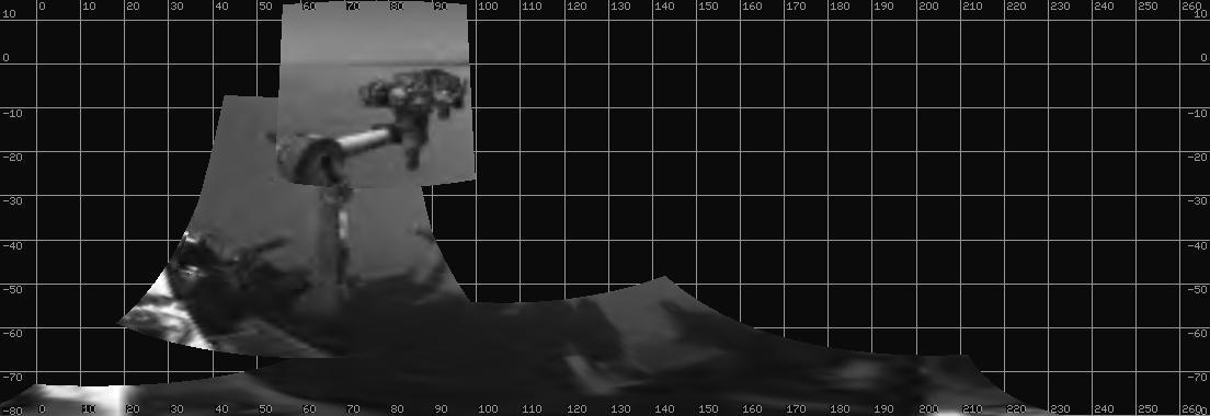 Panoramic view of Curiosity's arm (Image: NASA/JPL-Caltech)